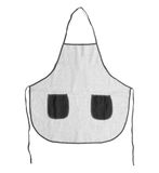 Blank apron with pockets on white background. Royalty Free Stock Photos