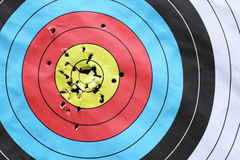 Blank archery target. Royalty Free Stock Photo