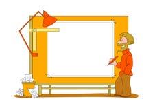 Blank architect plan Stock Photography