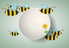 Blank area bees Royalty Free Stock Photo