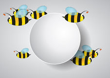 Blank area bees Stock Image