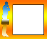 Blank Area Business Man Outline Stock Photography