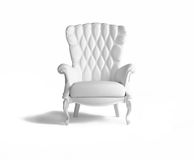 Blank  armchair. Over the white Stock Photography