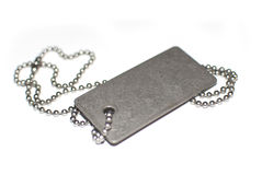 Blank army dogtag Royalty Free Stock Photography
