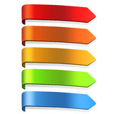 Blank Arrow Labels Stock Images