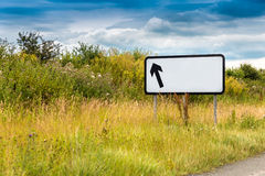 Blank Arrow Motorway Sign Royalty Free Stock Images