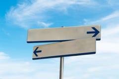 Blank arrow signal Stock Photography
