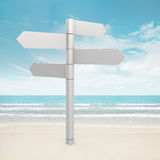 Blank arrows directions. 3d and photo montage Stock Photos
