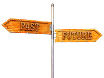 Blank arrows directions. Future and past Stock Image