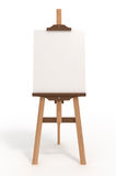 Blank art board, easel, with clipping path. Blank art board, wooden easel, front view,  on white, with clipping path, 3d illustration Stock Photos