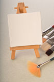 Blank art board, wooden easel Royalty Free Stock Photo