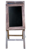Blank art board, wooden easel, front view,. Isolated on white background stock photos