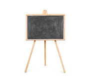 Blank art board, wooden easel, front view, Royalty Free Stock Photos