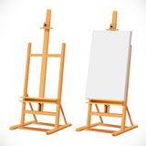 Blank art board on wooden easel Stock Photography