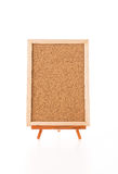 Blank art board, wooden easel. On white background stock images