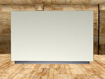 Blank Art Gallery Display Wall Illustration Royalty Free Stock Images