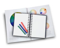 Blank Art Notebook on White Royalty Free Stock Image
