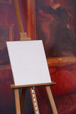 Blank artist canvas on easel Stock Image