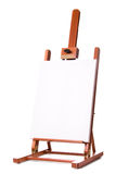 Blank Artist Easel. Studio shot, isolated on white background stock photo