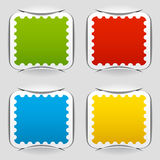 Blank attached postage papers Royalty Free Stock Photography