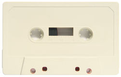 A blank audio cassette. Royalty Free Stock Images