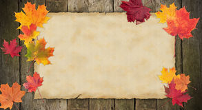 Blank autumn paper Royalty Free Stock Photography