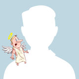 Blank Avatar with conscience Royalty Free Stock Image