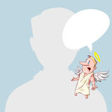 Blank Avatar with conscience Stock Images