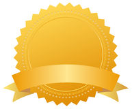 Blank award golden medal stock illustration