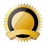 Blank award medal with ribbon Royalty Free Stock Photography