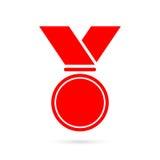 Blank award medal with ribbon Royalty Free Stock Photos