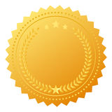 Blank award medal vector illustration