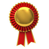 Blank award ribbon rosette vector illustration