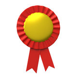Blank award ribbon rosette 3d Royalty Free Stock Image