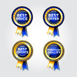 Blank award ribbon rosette Royalty Free Stock Images
