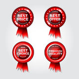 Blank award ribbon rosette Stock Images