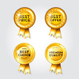 Blank award ribbon rosette Royalty Free Stock Photo