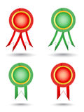 Blank award ribbon rosettes Royalty Free Stock Photos