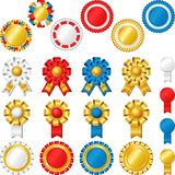 Blank award ribbon rosettes Royalty Free Stock Photography