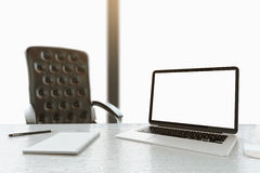 blank bärbar dator Arkivfoto