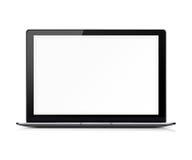 blank bärbar datorskärmwhite Royaltyfria Bilder