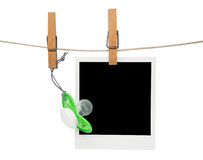 Blank baby polaroid frame. Blank baby polaroid picture frame Stock Images