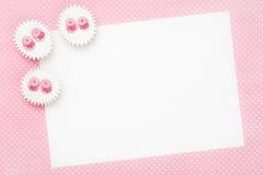 Blank baby shower invitation stock photo