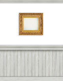 Blank backdrop with beadboard Royalty Free Stock Photography