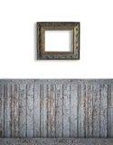 Blank backdrop with dark beadboard Royalty Free Stock Photos