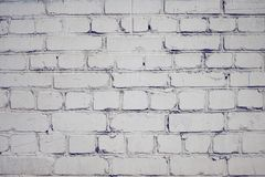 Blank background with brick surface, painted with white paint stock images