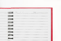Blank background. paper spiral notebook isolated on white Royalty Free Stock Images