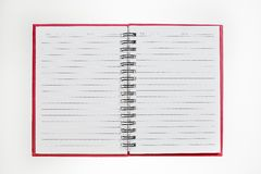 Blank background. paper spiral notebook isolated on white Royalty Free Stock Image