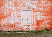 Blank background for your text. The texture of a grunge old street on the facade wall with cracked paint Stock Photography