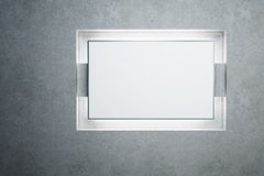 Blank backlighted billboard Stock Image